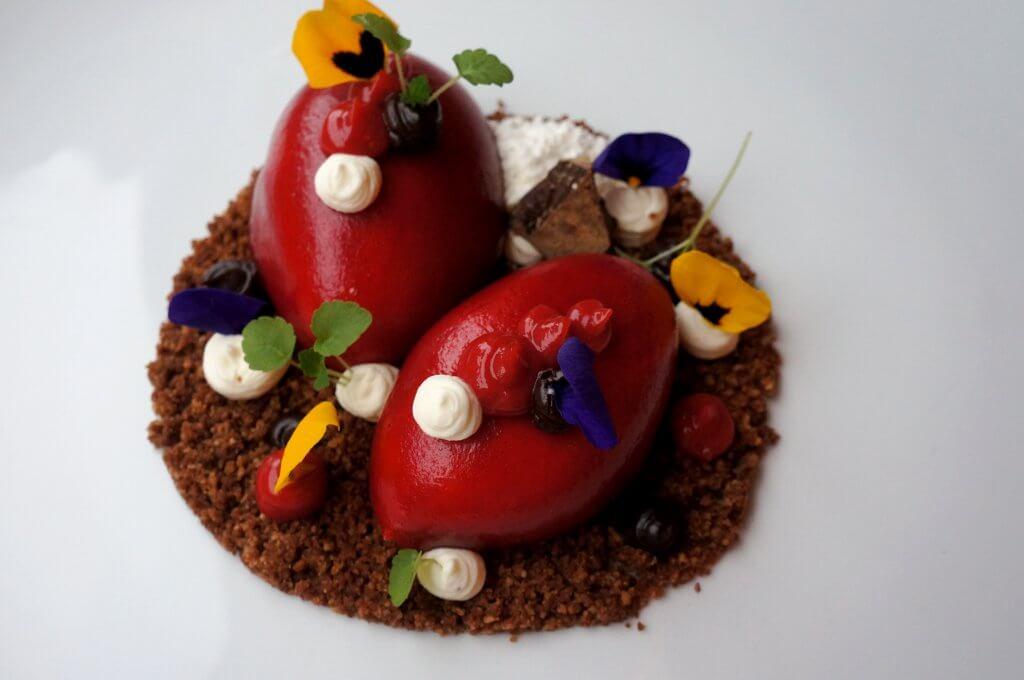 Frambozen dessert Restaurant Oud Zuid