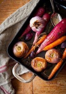 Geroosterde oven groenten